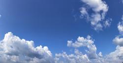 White cloud blue sky wallpaper