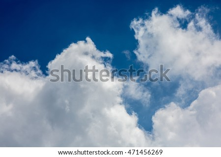 White cloud in the blue sky #471456269