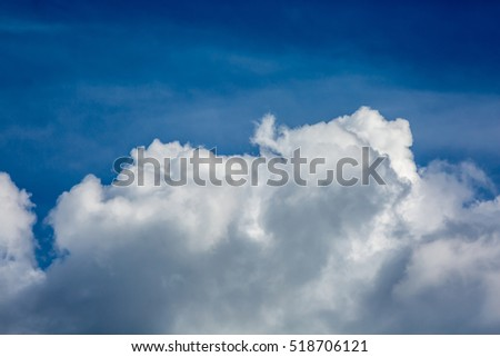 White cloud in the blue sky #518706121
