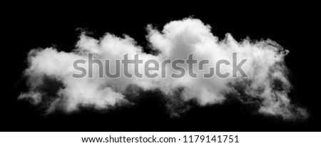 White cloud isolated on black background,Textured smoke,brush effect