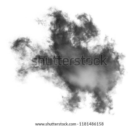 white cloud Isolated on white background,Smoke Textured,brush effect