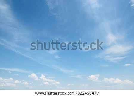 white cloud on blue sky #322458479