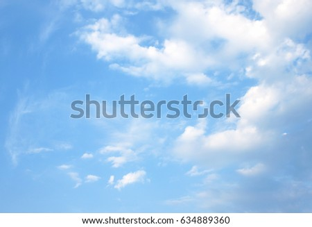 white cloud on blue sky (clouds) #634889360