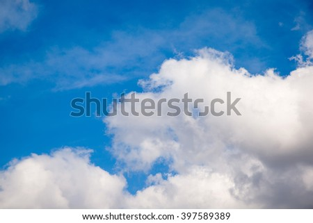 white clouds against blue sky #397589389