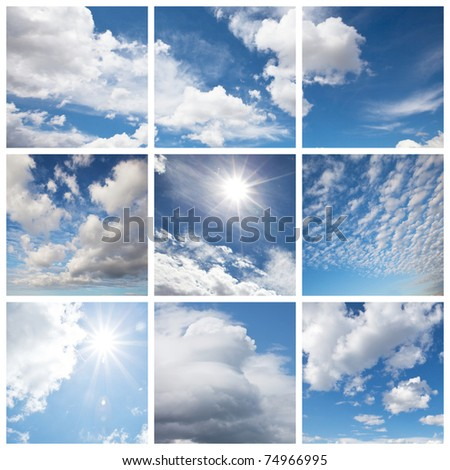 White clouds and blue - Shutterstock ID 74966995