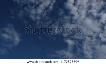 White clouds floating in the sky, bright blue, very beautiful. #1172575609