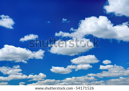 Black And White Clouds Background. stock photo : White clouds in