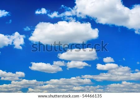 White clouds in a blue sky. Sky background. Sky and clouds background. Clouds