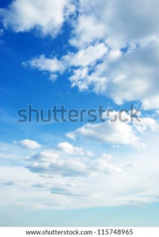 White clouds in blue sky