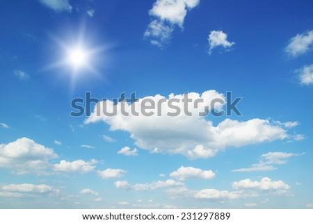 White clouds in blue sky #231297889