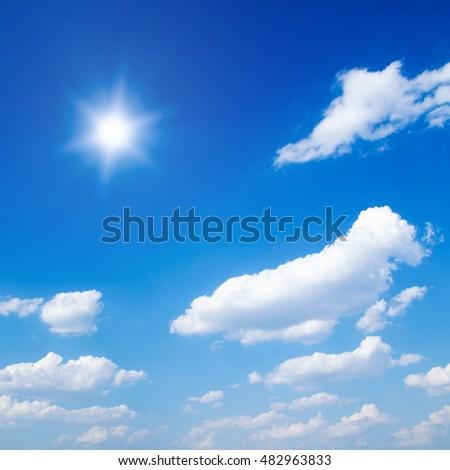 White clouds in blue sky #482963833