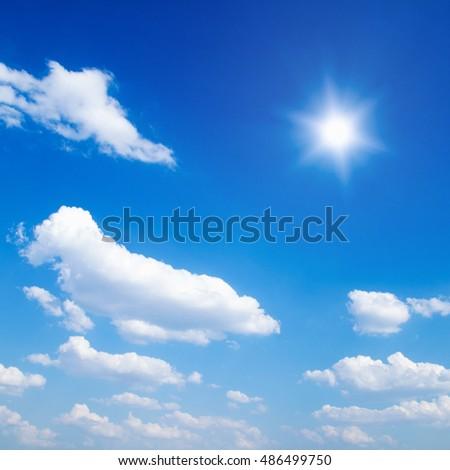 White clouds in blue sky #486499750