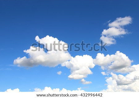 white clouds in the blue sky background - Shutterstock ID 432996442