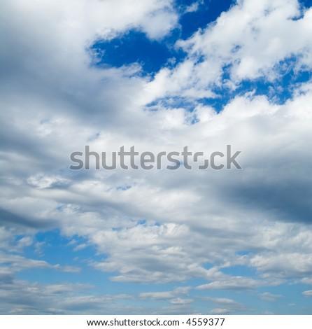 White clouds in the blue sky. Cloudscape #4559377
