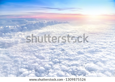 White clouds in the Stratosphere atmosphere #1309875526