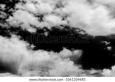 White clouds isolated on black background. #1061204681