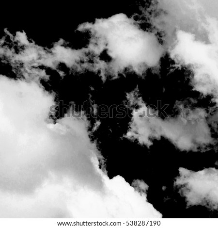 white clouds on black background #538287190