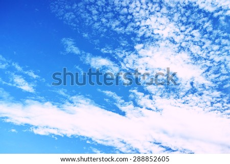 White clouds on blue sky #288852605