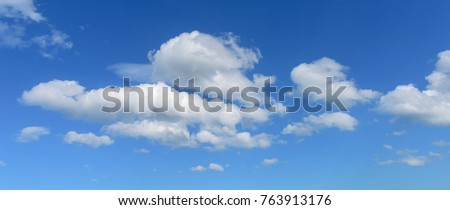 White clouds on blue sky. - Shutterstock ID 763913176