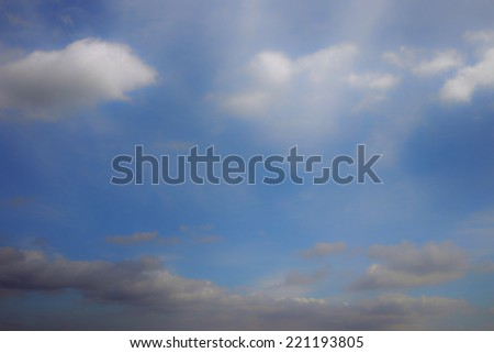 White clouds on blue sky background for the concept of mind, meditation, sleep, dream, relaxation and illusion. #221193805