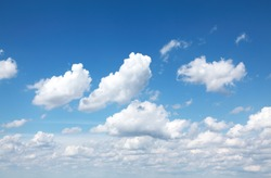 White clouds on blue sky suitable for backgrounds