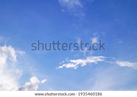 white clouds on the blue sky perfect for the background