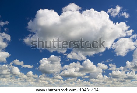 white clouds over blue sky.nature background. - stock photo