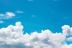 White clouds patterns on bright bluesky background