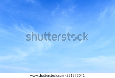 White cloudy and blue sky with windy in sunny day background