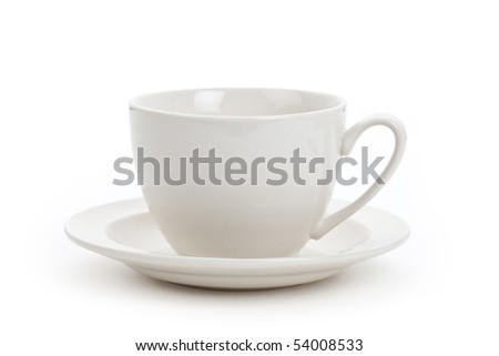 White Coffee Cup close up