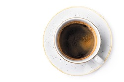 white coffee cup isolated on a white backgound