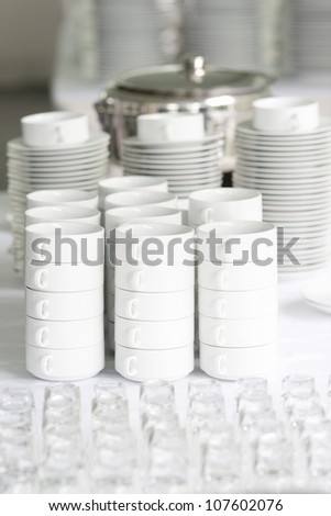 white coffee cups