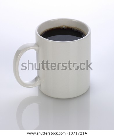 white coffee mug with clipping path