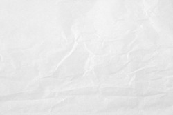 White color creased paper tissue background texture, wrinkled tissue paper texture.