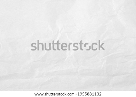 White color creased paper tissue background texture, wrinkled tissue paper texture. Photo stock ©
