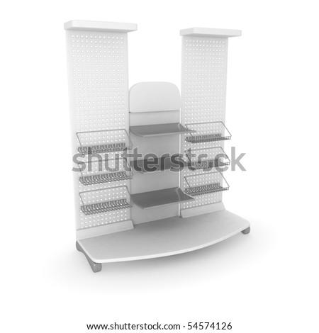 White Composite Stand