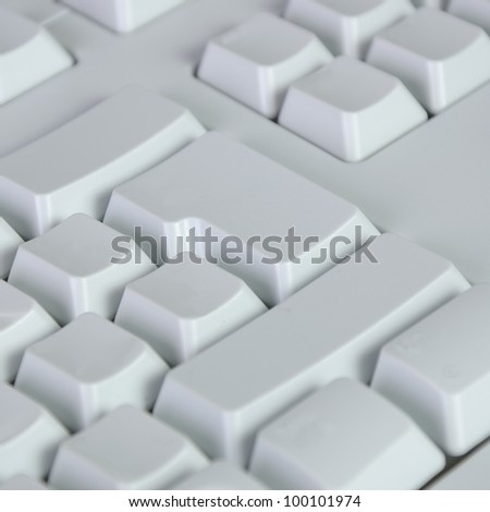white computer keyboard with white blank buttons