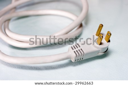 White Computer Power Cord