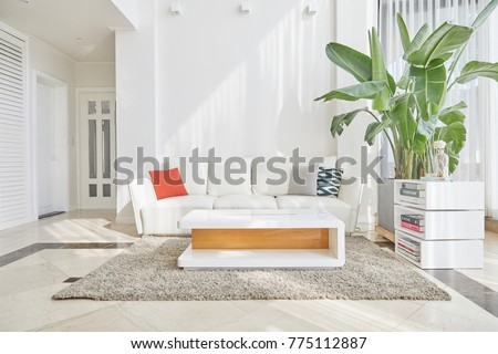 White Concept Living Room Interior #775112887