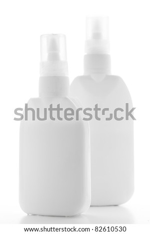 White containers of glue