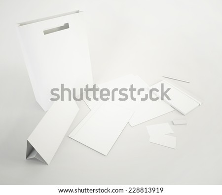 White corporate template. Template for branding identity.