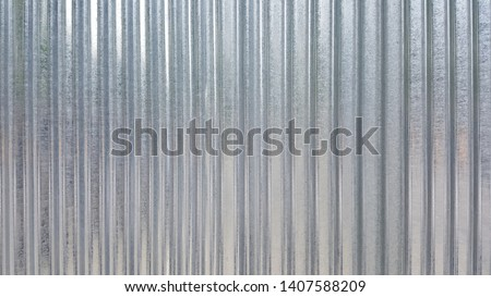 White Corrugated metal or zinc texture surface or galvanize steel in the vertical line background or texture Сток-фото ©