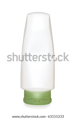white  cosmetic bottle isolated on the white
