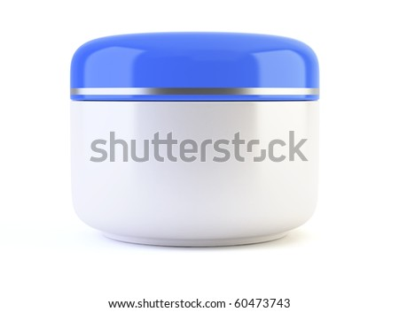 White cosmetic container - 3d render