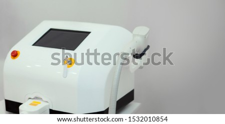 white cosmetology cabinet, close-up laser device, laser device, hair removal  #1532010854
