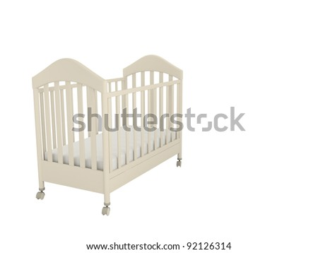 White cot isolated on a white background