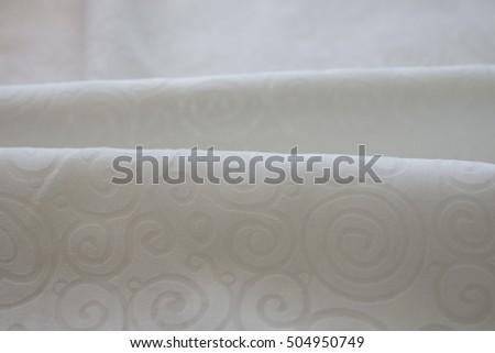 white cotton fabric pattern. Beige cloth texture #504950749