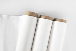 White cotton Fabric Rolls Mockup