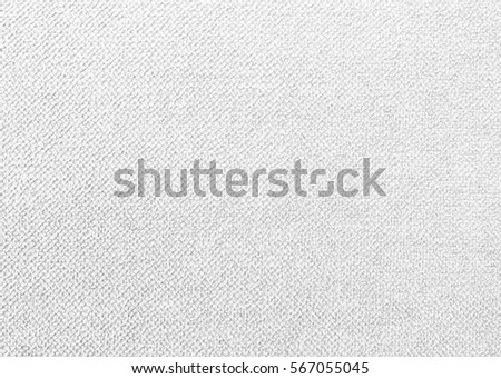 White cotton fabric woven canvas texture with gray pattern background. Soft focus linen sack craft art design. #567055045
