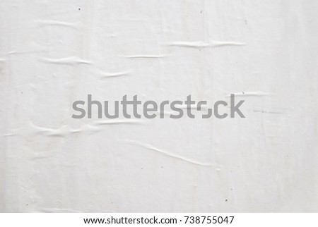 white creased empty billboard poster